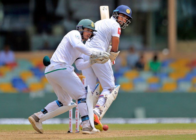 Danushka Gunathilaka 57 Sri Lanka South Africa 2nd Test Day 1 Colombo cricket