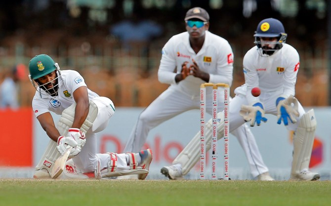 Temba Bavuma 63 Sri Lanka South Africa 2nd Test Day 4 Colombo cricket