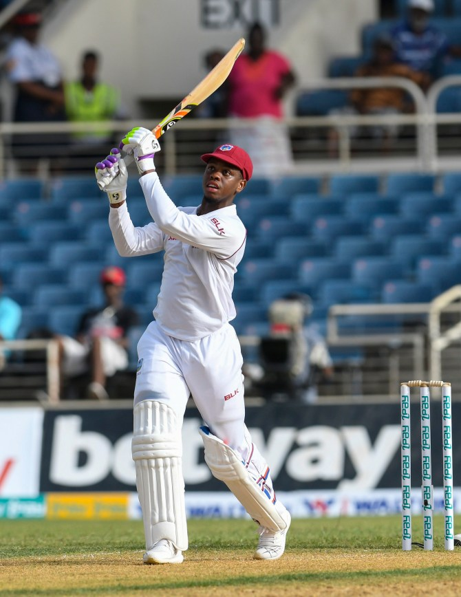Shimron Hetmyer 84 West Indies Bangladesh 2nd Test Day 1 Jamaica cricket