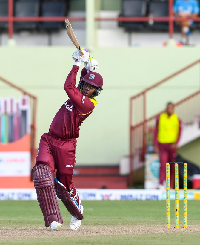 Shimron Hetmyer 52 West Indies Bangladesh 1st ODI Guyana cricket