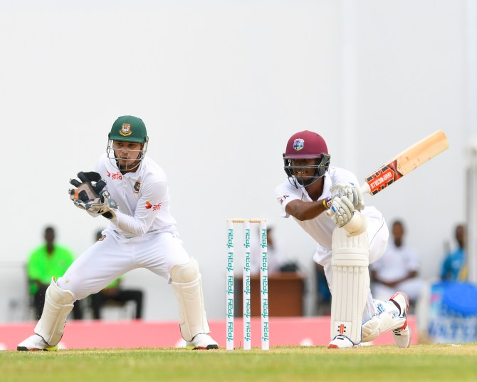 Kraigg Brathwaite 88 not out West Indies Bangladesh 1st Test Day 1 Antigua cricket