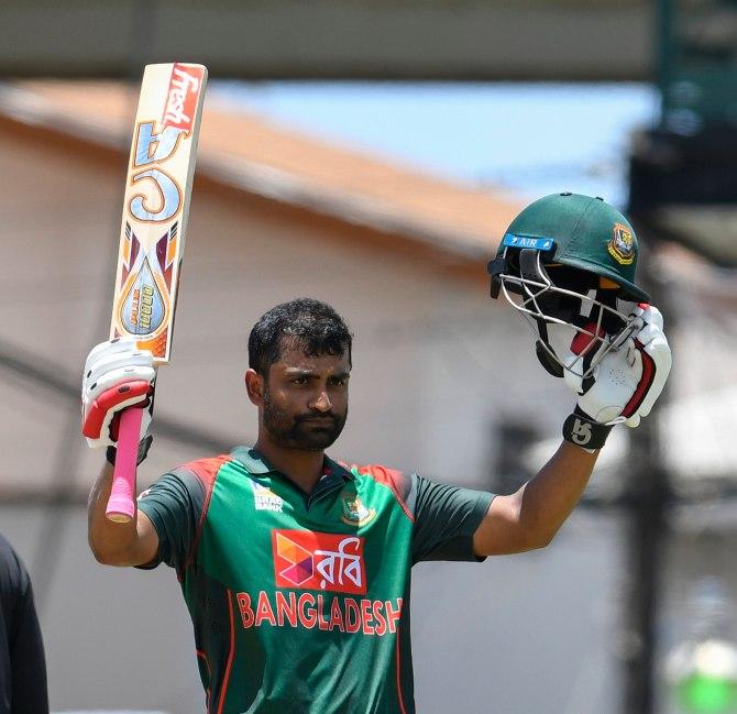 Tamim Iqbal 103 West Indies Bangladesh 3rd ODI St Kitts cricket
