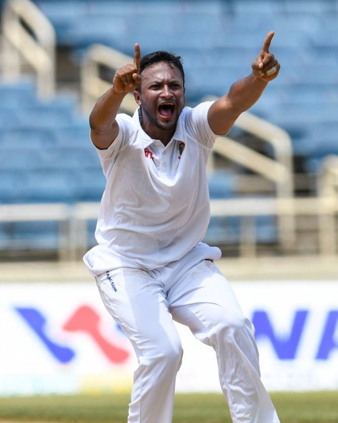 Shakib Al Hasan six wickets West Indies Bangladesh 2nd Test Day 3 Jamaica cricket