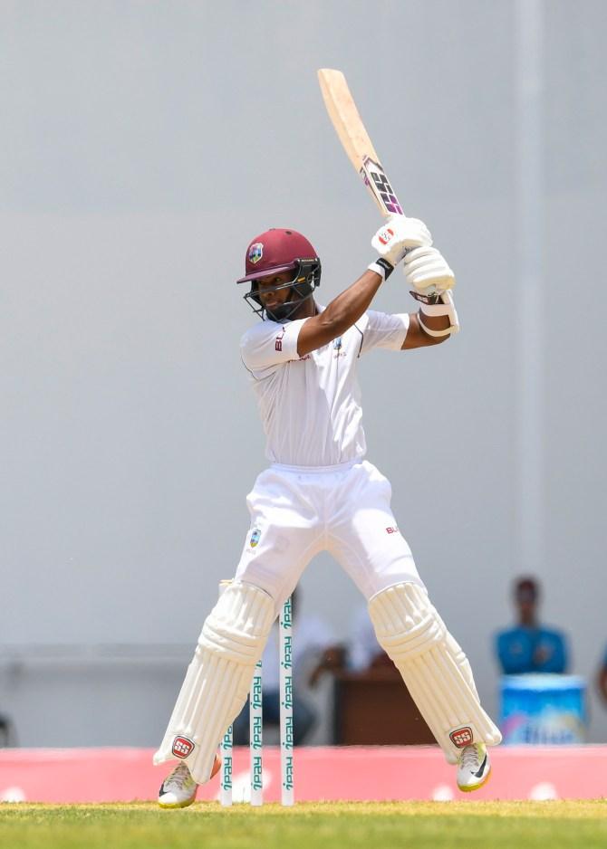 Shai Hope 67 West Indies Bangladesh 1st Test Day 2 Antigua cricket