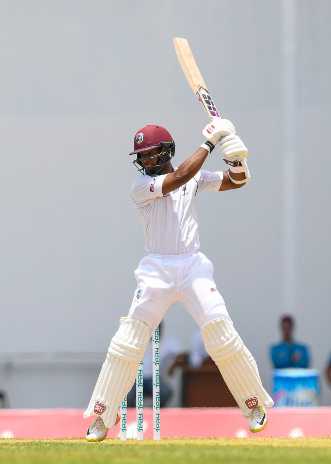 Shai Hope 67 West Indies Bangladesh 1st Test Day 2 Antigua cricket