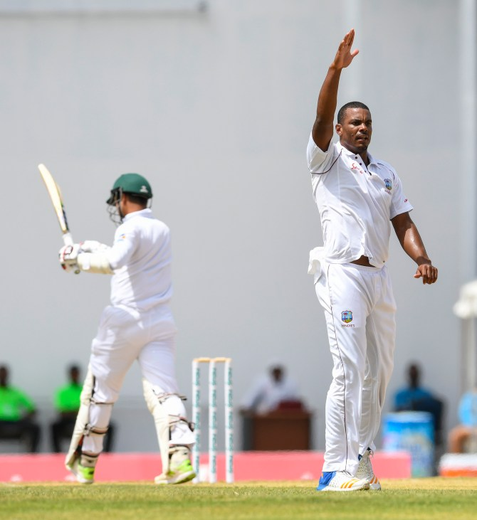 Shannon Gabriel five wickets West Indies Bangladesh 1st Test Day 3 Antigua cricket