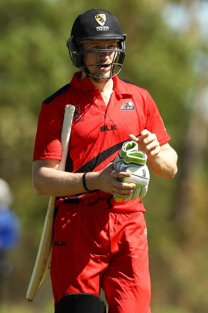 Cameron Bancroft cleared serious injuries hit in the throat Desert Blaze team Darwin Strike League Australia cricket