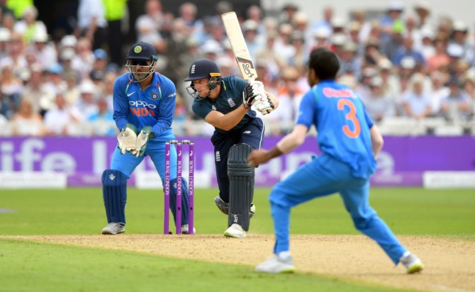 Jos Buttler 53 England India 1st ODI Nottingham cricket