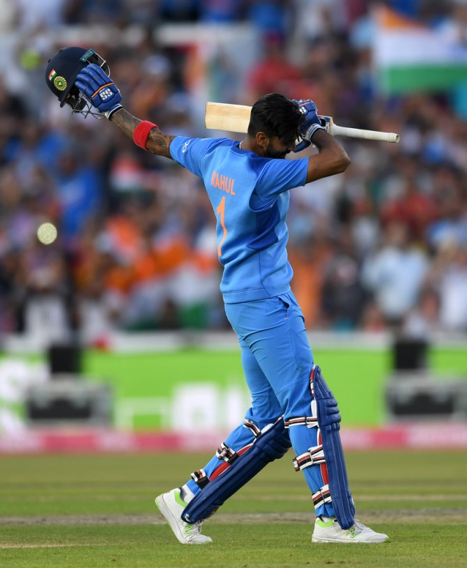 Lokesh Rahul 101 not out England India 1st T20 Manchester cricket