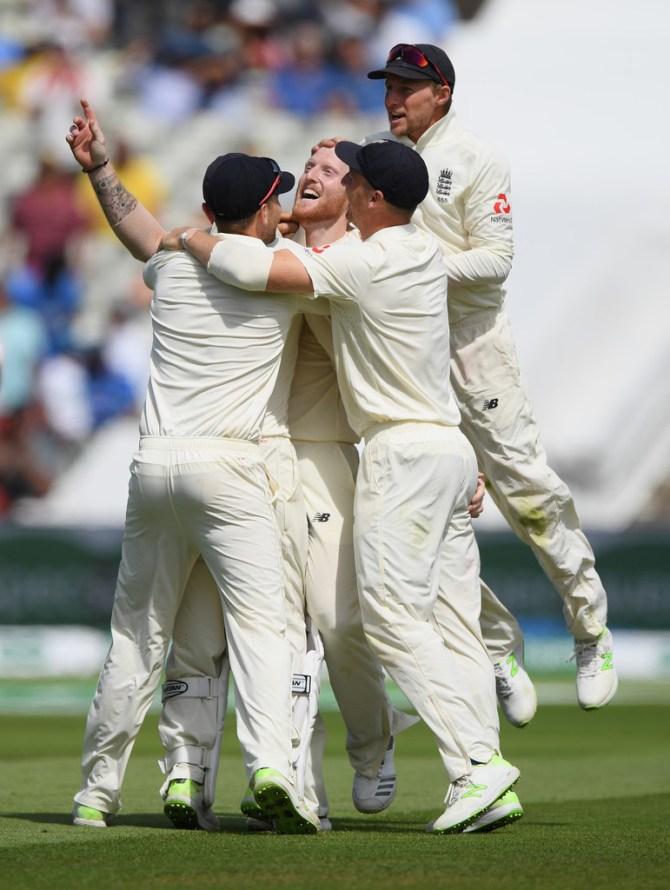 Ben Stokes four wickets England India 1st Test Day 4 Edgbaston cricket