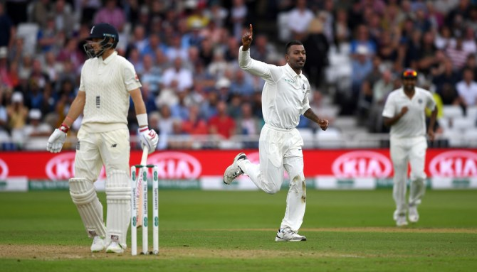 Hardik Pandya five wickets England India 3rd Test Day 2 Nottingham cricket