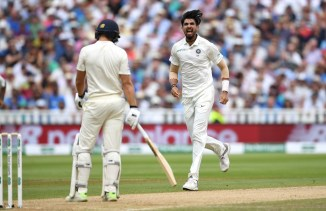 Ishant Sharma fined 15 percent of match fee given demerit point send-off Dawid Malan India England cricket