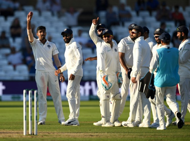 Jasprit Bumrah five wickets England India 3rd Test Day 4 Nottingham cricket