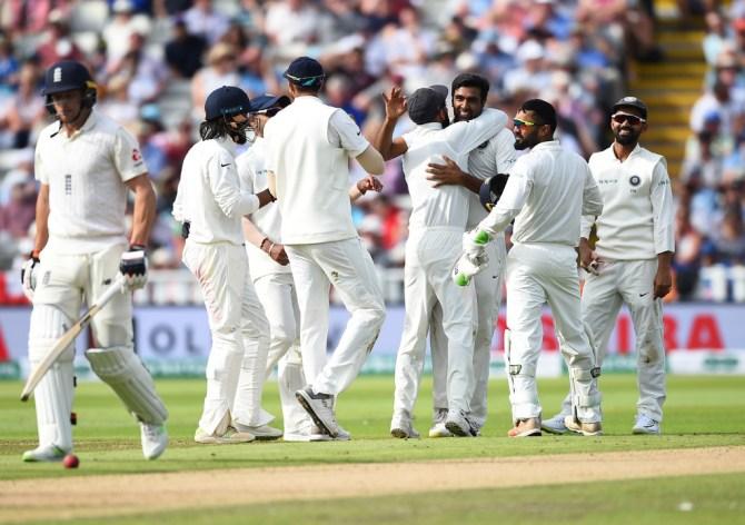 Ravichandran Ashwin four wickets England India 1st Test Day 1 Edgbaston cricket