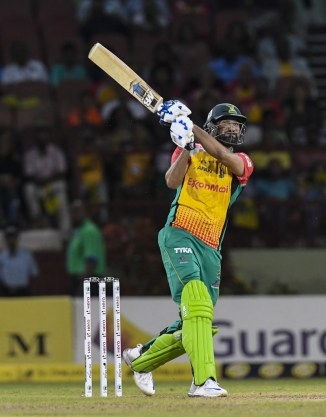 Sohail Tanvir six runs penultimate ball Guyana Amazon Warriors beat Trinbago Knight Riders advance Caribbean Premier League CPL final cricket