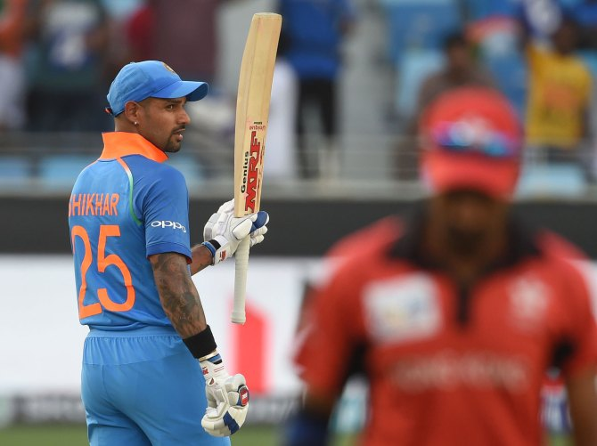 Shikhar Dhawan 127 India Hong Kong Asia Cup Dubai cricket