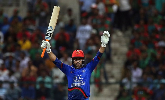 Rashid Khan 57 not out two wickets Afghanistan Bangladesh Asia Cup cricket