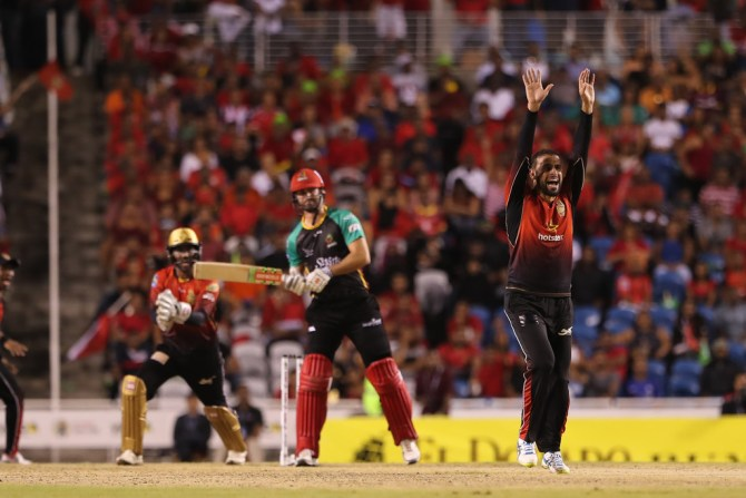 Fawad Ahmed three wickets Trinbago Knight Riders St Kitts and Nevis Patriots 2nd Qualifier Caribbean Premier League CPL cricket