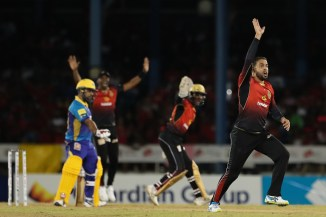 Fawad Ahmed three wickets Trinbago Knight Riders Barbados Tridents Caribbean Premier League CPL cricket