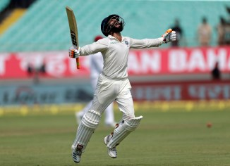Ravindra Jadeja 100 not out India West Indies 1st Test Day 2 Rajkot cricket