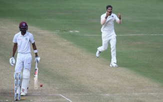 Umesh Yadav four wickets India West Indies 2nd Test Day 3 Hyderabad cricket