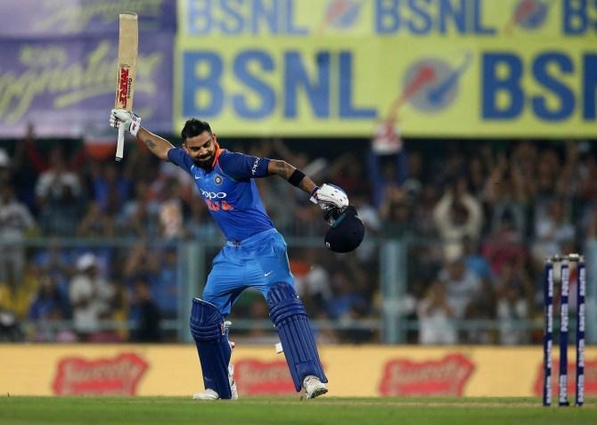 Virat Kohli 140 India West Indies 1st ODI Guwahati cricket