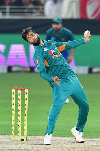 Imad Wasim one wicket Pakistan Australia 2nd T20 Dubai cricket
