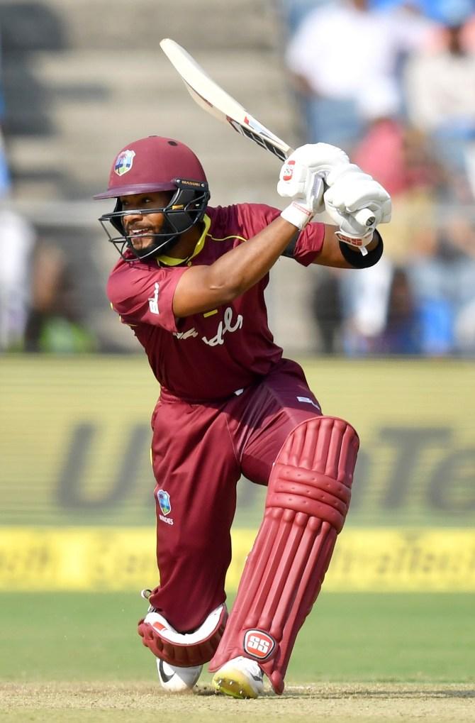 Shai Hope 95 India West Indies 3rd ODI Pune cricket
