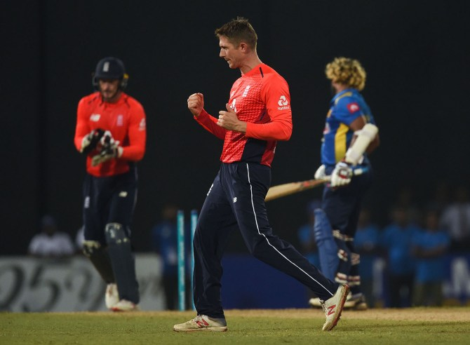 Joe Denly four wickets Sri Lanka England Only T20 Colombo cricket