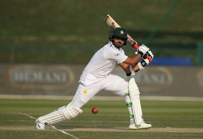 Azhar Ali 54 Pakistan Australia 2nd Test Day 2 Abu Dhabi cricket