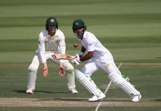 Fakhar Zaman 94 Pakistan Australia 2nd Test Day 1 Abu Dhabi cricket