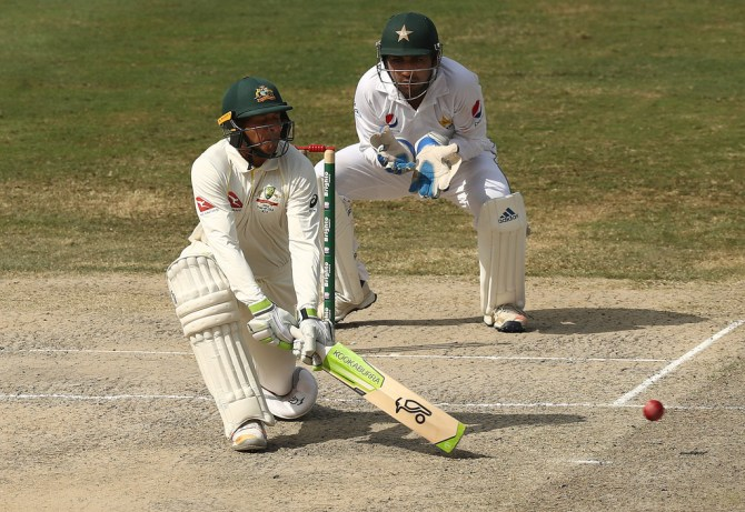Usman Khawaja 50 Pakistan Australia 1st Test Day 4 Dubai cricket