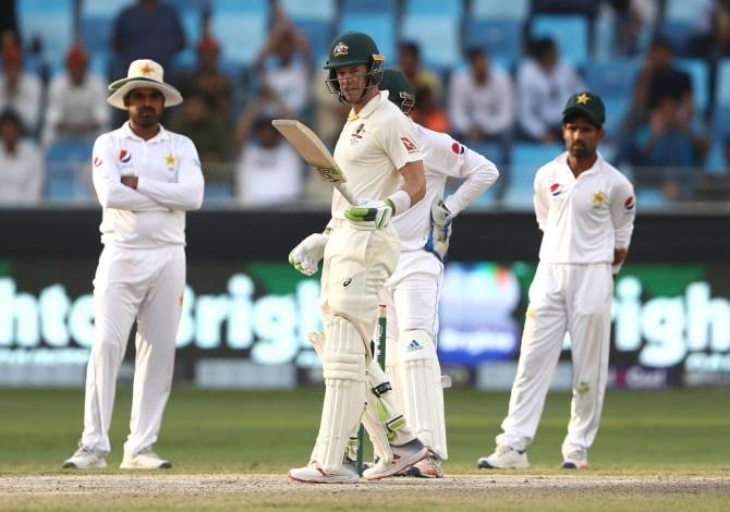 Tim Paine 61 not out Pakistan Australia 1st Test Day 5 Dubai cricket