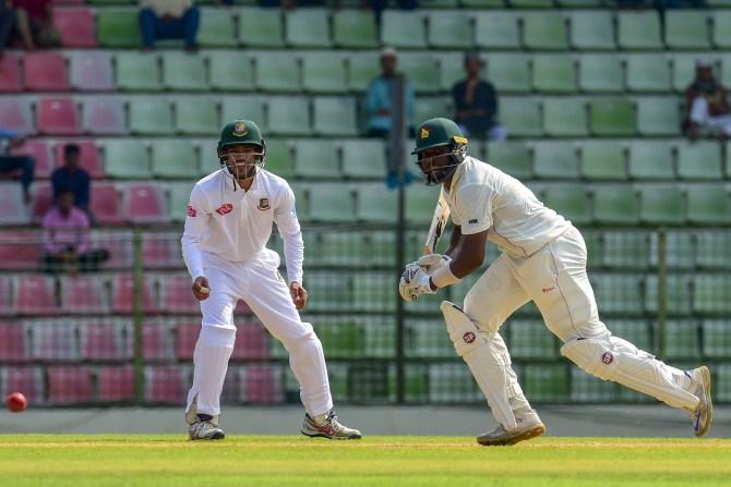 Hamilton Masakadza 52 Bangladesh Zimbabwe 1st Test Day 1 Sylhet cricket