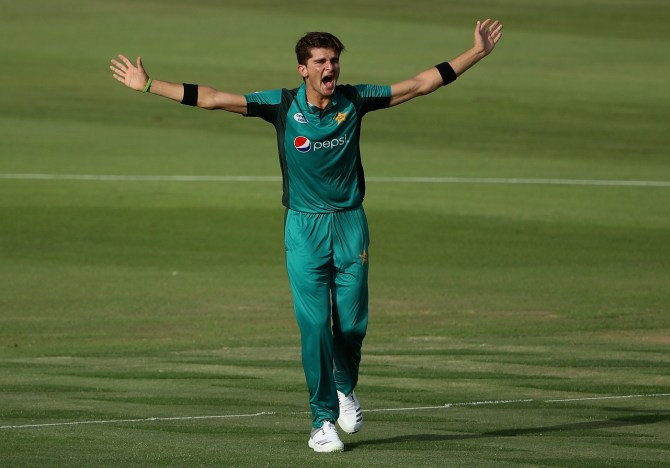 Shaheen Shah Afridi four wickets Pakistan New Zealand 2nd ODI Abu Dhabi cricket