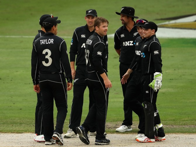 Lockie Ferguson five wickets Pakistan New Zealand 3rd ODI Dubai cricket