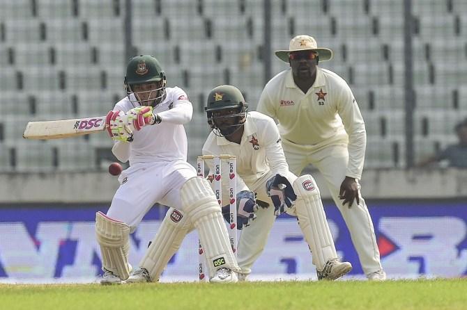 Mushfiqur Rahim 219 not out Bangladesh Zimbabwe 2nd Test Day 2 Dhaka cricket