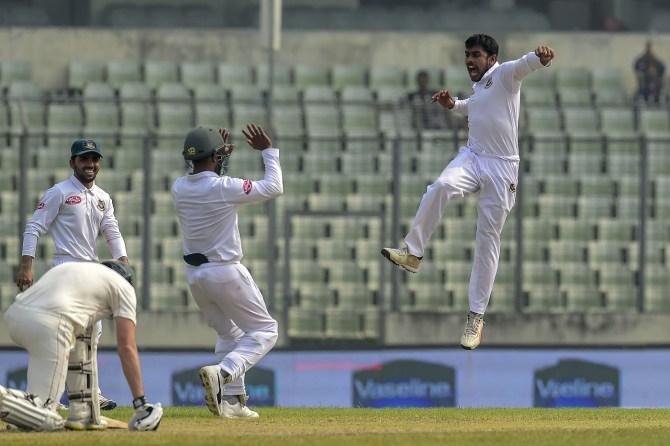 Mehidy Hasan Miraz five wickets Bangladesh Zimbabwe 2nd Test Day 5 Dhaka cricket