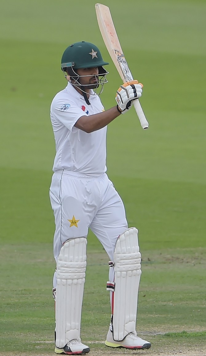 Babar Azam 62 Pakistan New Zealand 1st Test Day 2 Abu Dhabi cricket
