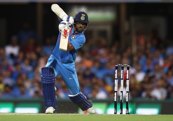 Shikhar Dhawan 76 Australia India 1st T20 Brisbane cricket