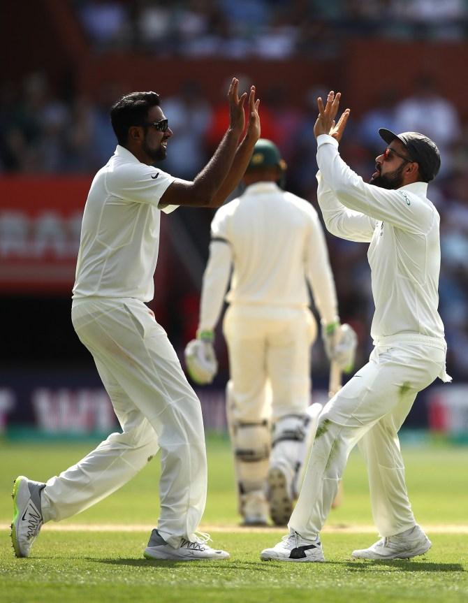 Ravichandran Ashwin two wickets Australia India 1st Test Day 4 Adelaide cricket
