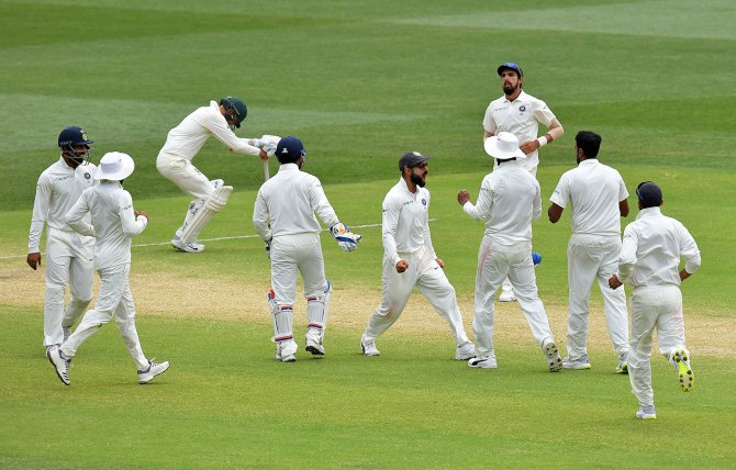 India beat Australia 1st Test Day 5 Adelaide cricket