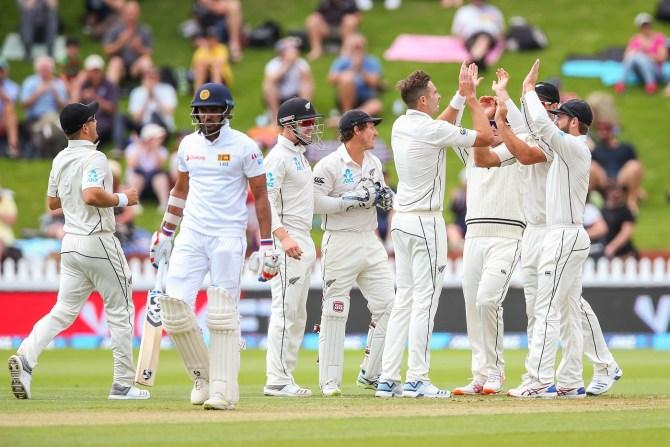 Tim Southee five wickets New Zealand Sri Lanka 1st Test Day 1 Wellington cricket