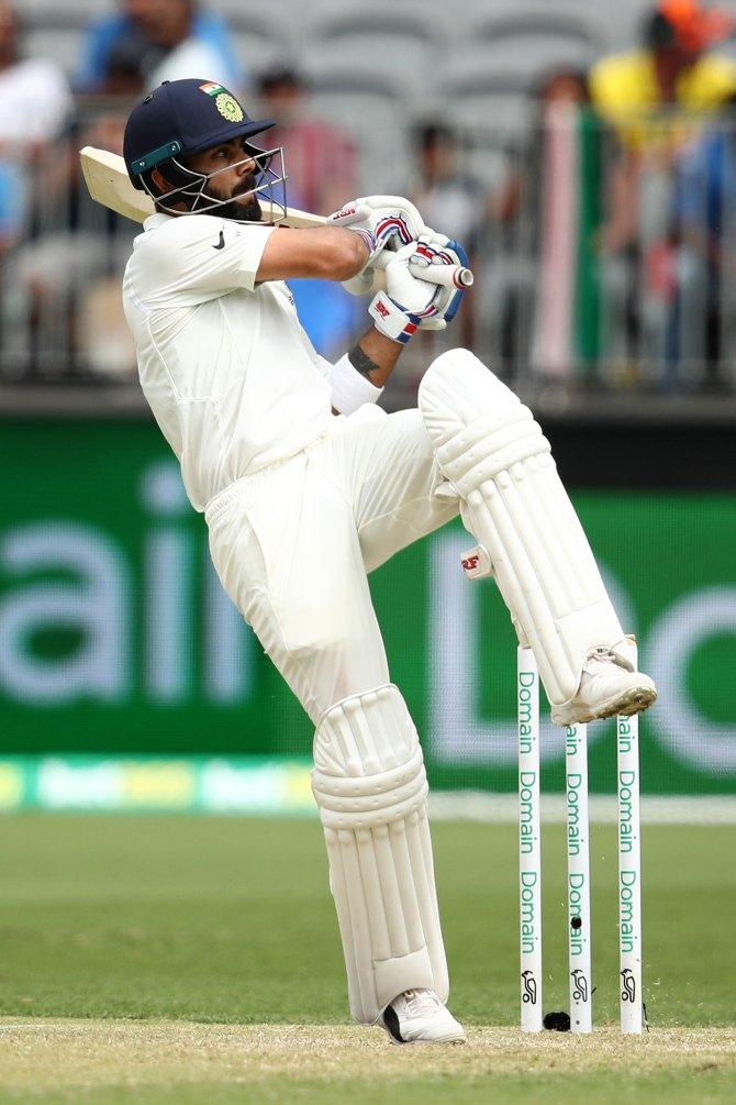 Virat Kohli 82 not out Australia India 2nd Test Day 2 Perth cricket