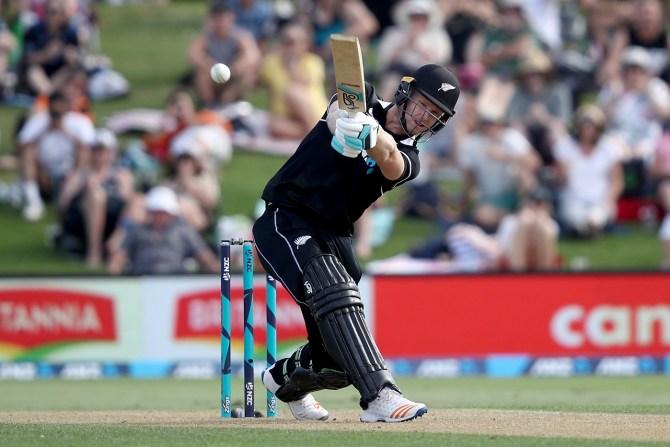 James Neesham 47 not out three wickets New Zealand Sri Lanka 1st ODI Mount Maunganui cricket