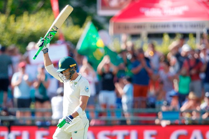 Faf du Plessis 103 South Africa Pakistan 2nd Test Day 2 Cape Town cricket