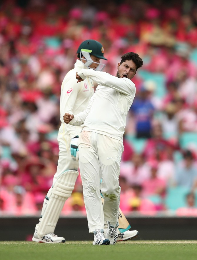 Kuldeep Yadav three wickets Australia India 4th Test Day 2 Sydney cricket