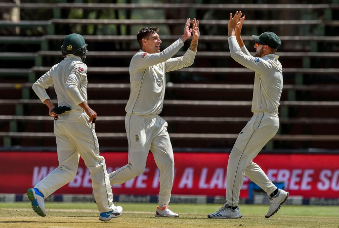 Duanne Olivier three wickets South Africa Pakistan 3rd Test Day 4 Johannesburg cricket