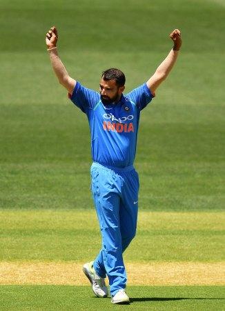 Mohammed Shami three wickets New Zealand India 3rd ODI Mount Maunganui cricket