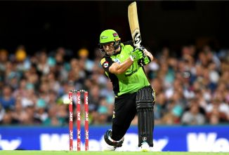 Shane Watson 100 Sydney Thunder Brisbane Heat Big Bash League BBL 33rd Match cricket